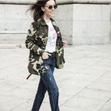Winter 2017 Trends: Military Jacket + Embroidered Jeans / Tendencias Invierno 2017: Chaqueta Militar + Vaqueros Bordados