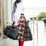 Spring 2018 Trends: Long Checked Skirt / Tendencias Primavera 2018: Falda Larga de Cuadros