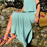 Summer 2016 Trends: Long Dress and Pom Pom Gladiator Sandals / Tendencias Verano 2016: Vestido Largo y Sandalias con Pompones