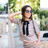 Summer Trends: Navy Striped Outfit / Tendencias de Verano: Conjunto de Rayas Marinero
